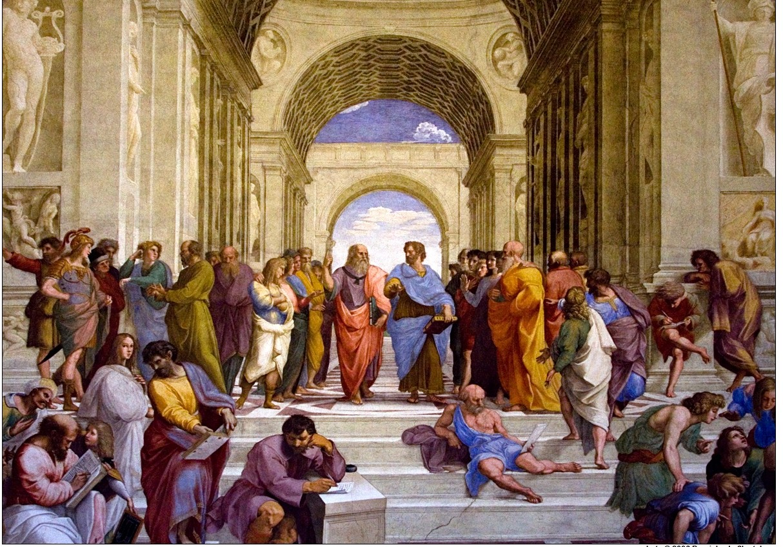 060905-162208 Raphael's 'The School of Athens' in the Stanze di Raffaello at the Apostolic Palace