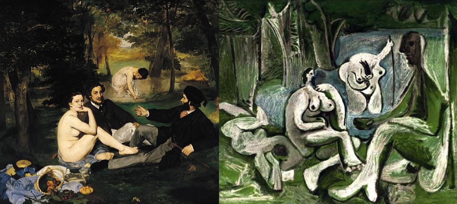 Édouard Manet 1863... Pablo Picasso 1960