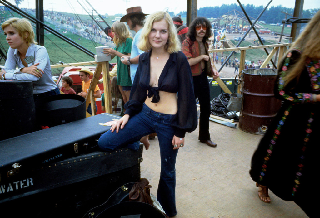 USA. Bethel, NY. 1969. Leslie LOAF, side stage, at the Woodstock Festival.