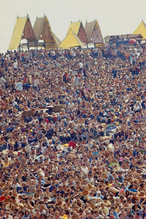 The crowd at the Woodstock Music Festival, August 1969, Bethel, NY. Bill Eppridge 83632_t2_8_21 scanned at CT Photo