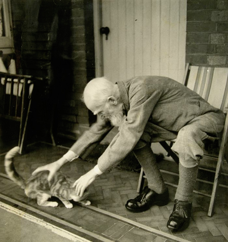 george-bernard-shaw-and-his-cat